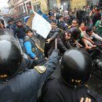 Protestas en Lima contra Ley de Servicio Civil y Ley Universitaria