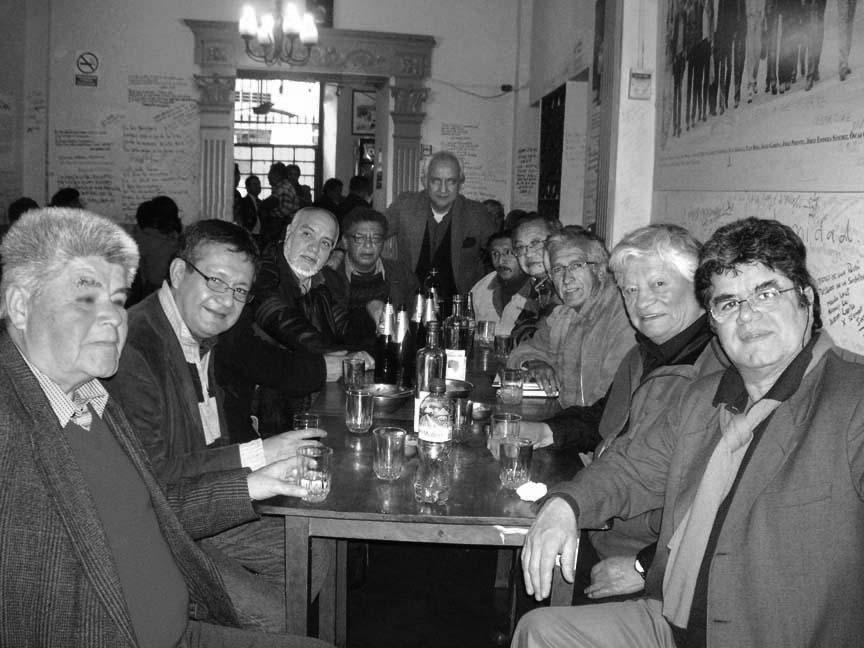 Alfredo Portal, Eloy Jáuregui, Tulio Mora, Enrique Verástegui, Alberto Escalante, Ángel Garrido Espinoza, Oswaldo Higuchi, César Gamarra, el maestro Alberto Quintanilla y Jorge Pimentel