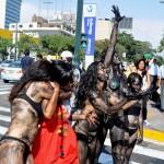 Protesta en Lima por derrame de petróleo