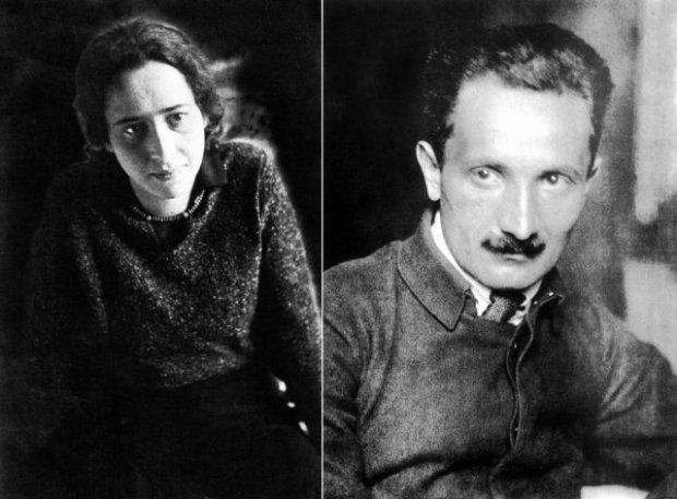 Hannah Arendt y Martin Heidegger