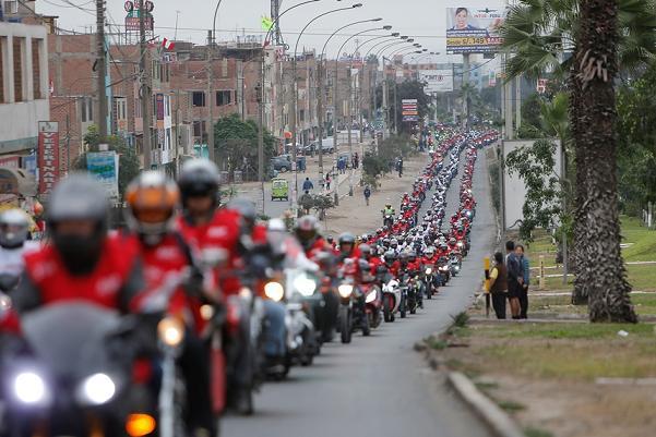 desfile motos