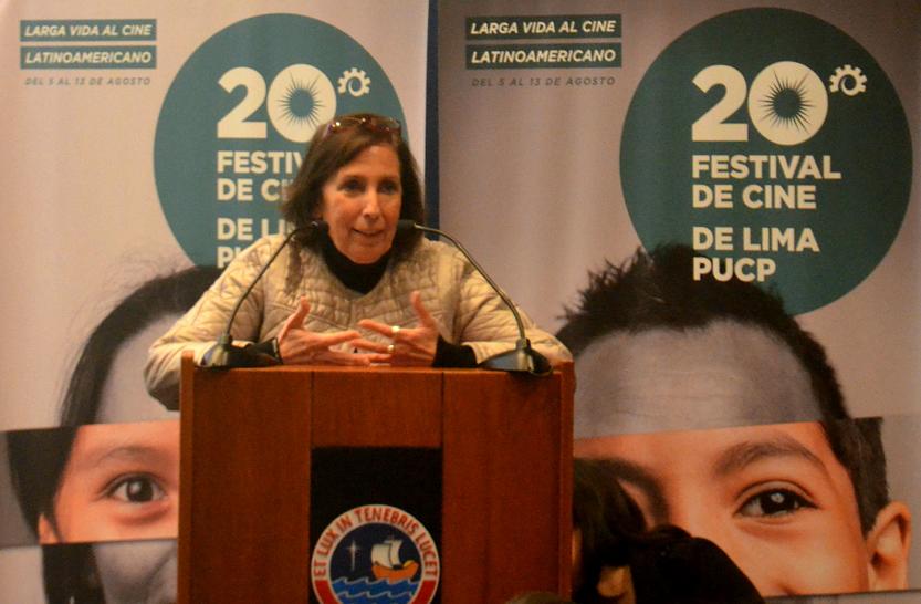 Alicia Morales, directora del Festival de Cine de Lima. Foto: Luis Felipe Alpaca.