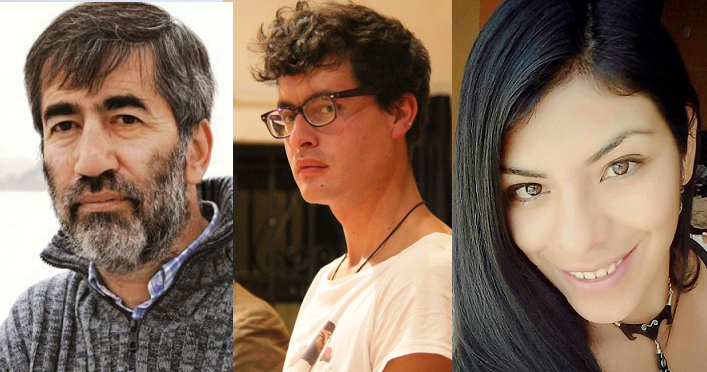 Luis Nieto Degregori, Jorge Vargas Prado y Aleyda Cárdenas.