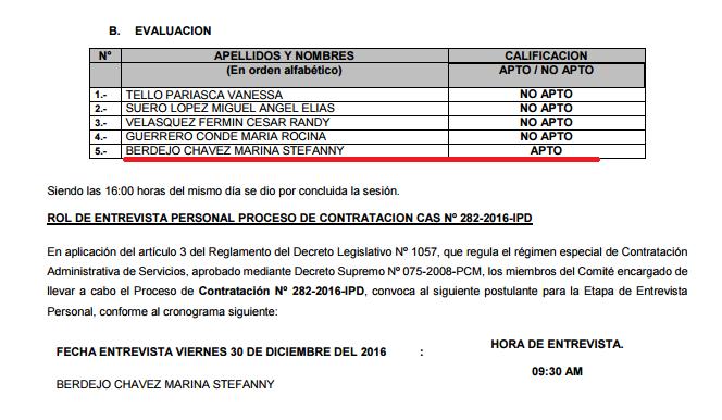 Cas ministerio de educacion minedu convocatoria cas for Convocatoria docentes 2016 ministerio de educacion