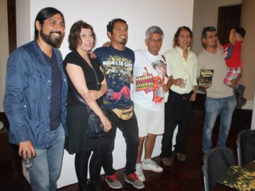 DE izquierda a derecha:  Guillermo Valdizan, Angie Bonino, Mario Navarro,  Alfredo Villar, Rodolfo Ybarra, Edwin Cavello. Foto: Katlim.