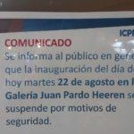VIDEO: El ICPNA suspendió la inauguración de la muestra de arte de Hugo Salazar Chuquimango