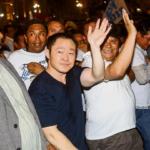 Kenji Fujimori encabezó marcha a favor del indulto